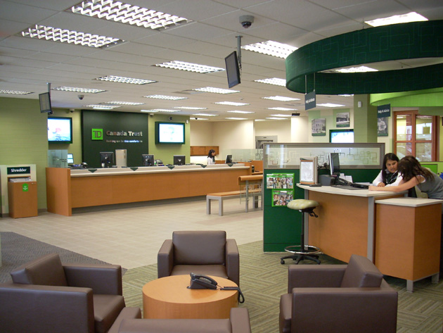 TD Bank branch in Canada