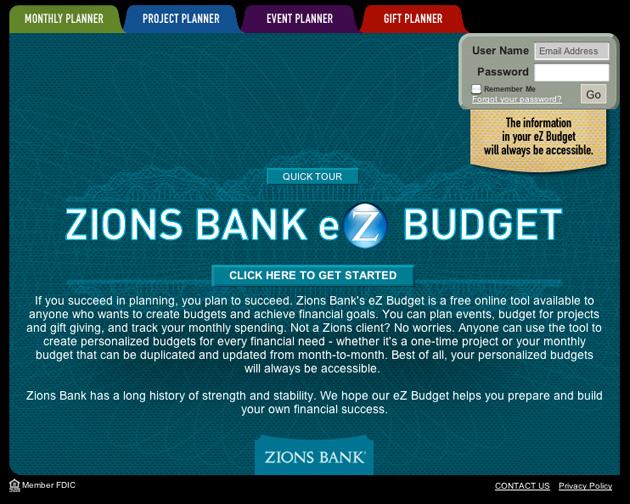 Zions Bank's eZ Budget