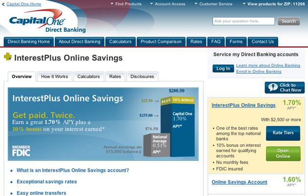 Capital One Savings