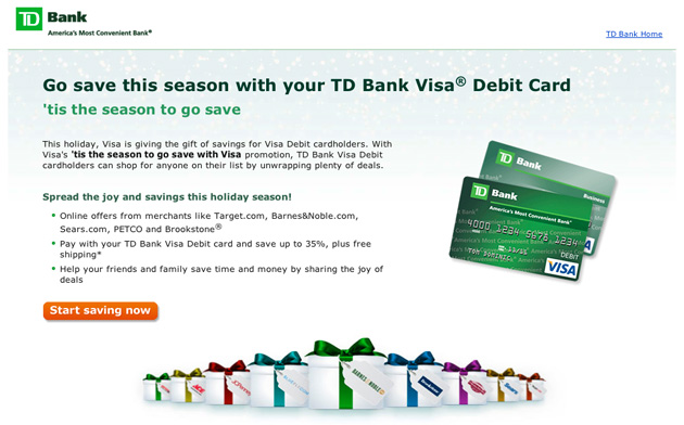 TD Bank Gift Cards