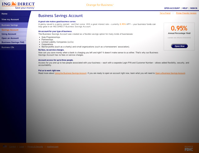 ING Direct 0.95 rate
