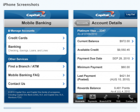 Capital One iPhone App