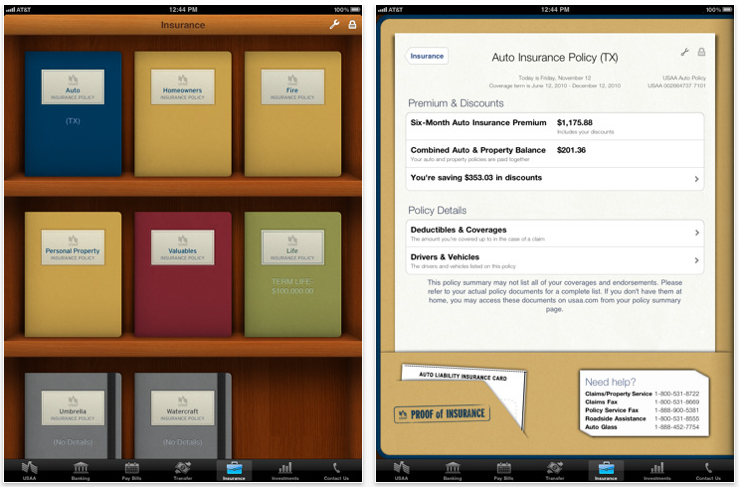 usaa bank ipad app