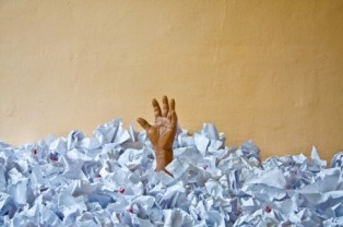 drowning in mail and letters