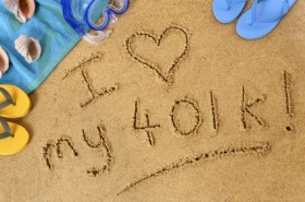 Retirement beach writing - 401k