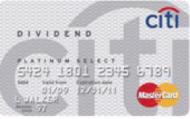 Citi Dividend Platinum Select MasterCard