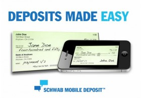 Charles Schwab: Mobile Check Deposit Now on iPhone, Launches Android App
