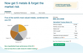 EverBank CD Offers Risk-Free Investing Exposure to Metals