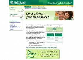 MT Bank FICO Credit Score Offer Page
