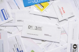 Pile of Credit Card Mail Offers