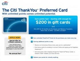 citi thank you card