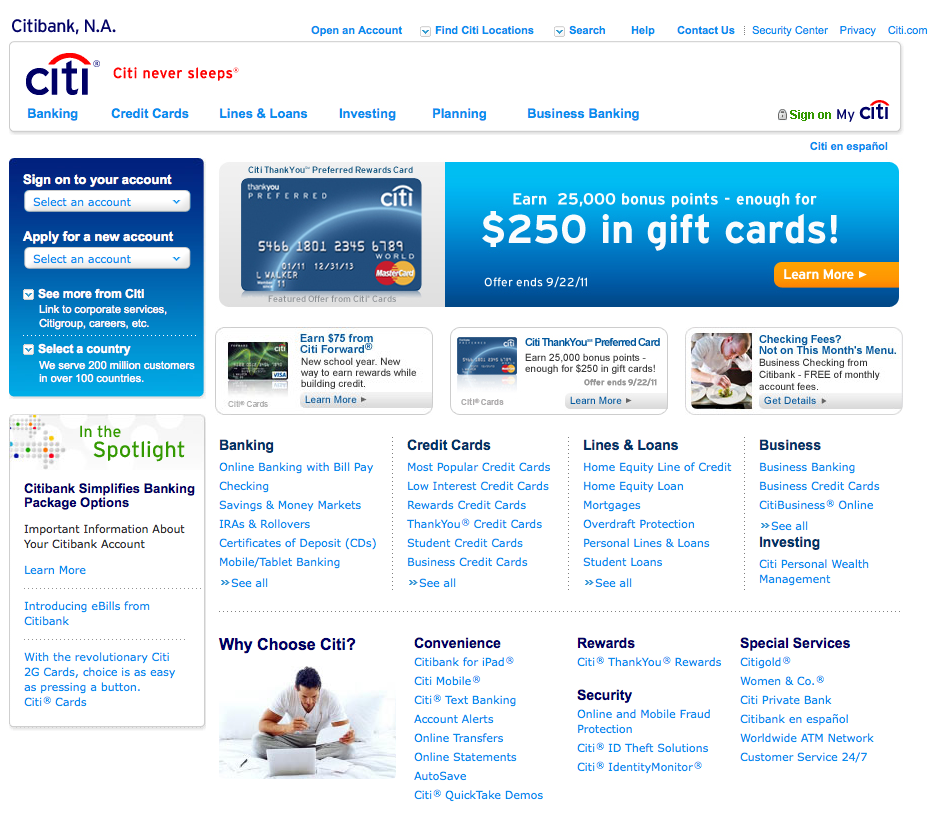 Citi To Launch Newly Re-designed Website
