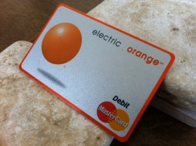 ING Direct Electric Orange Debit card - 3