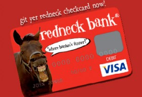 Redneck Bank Debit Card - featured