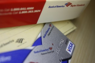Bank of America Debit Card & Checkbook