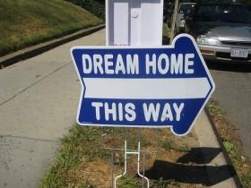 Dream Home sign
