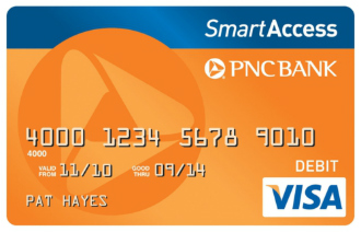 PNC Bank SmartAccess Prepaid Visa card
