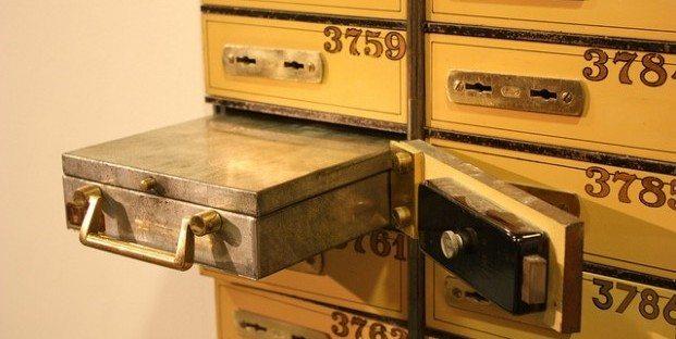 safe deposit boxes safe image