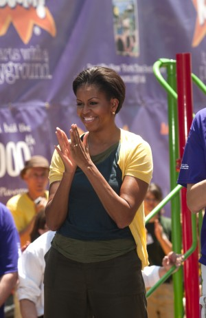 First Lady Michelle Obama Participates in Service Project