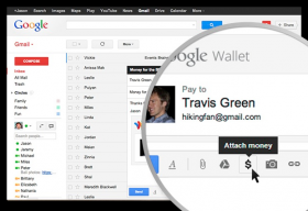 Google Wallet, Gmail P2P Payment