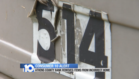 Source | http://www.10tv.com/content/stories/2013/07/22/athens-county-woman-wants-possessions-back-after-bank-tried-to-repossess-wrong-house.html