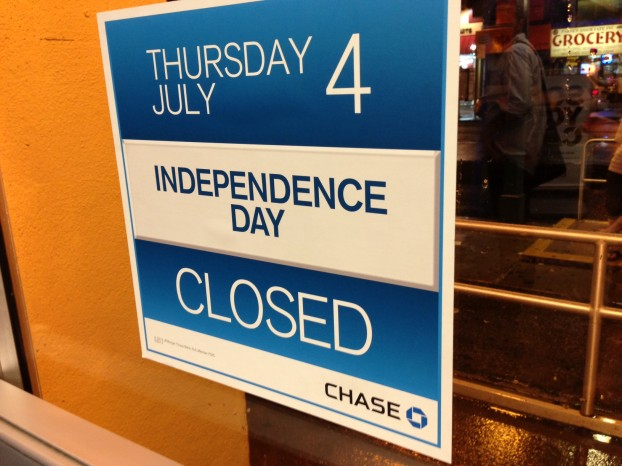 chase independence day sign