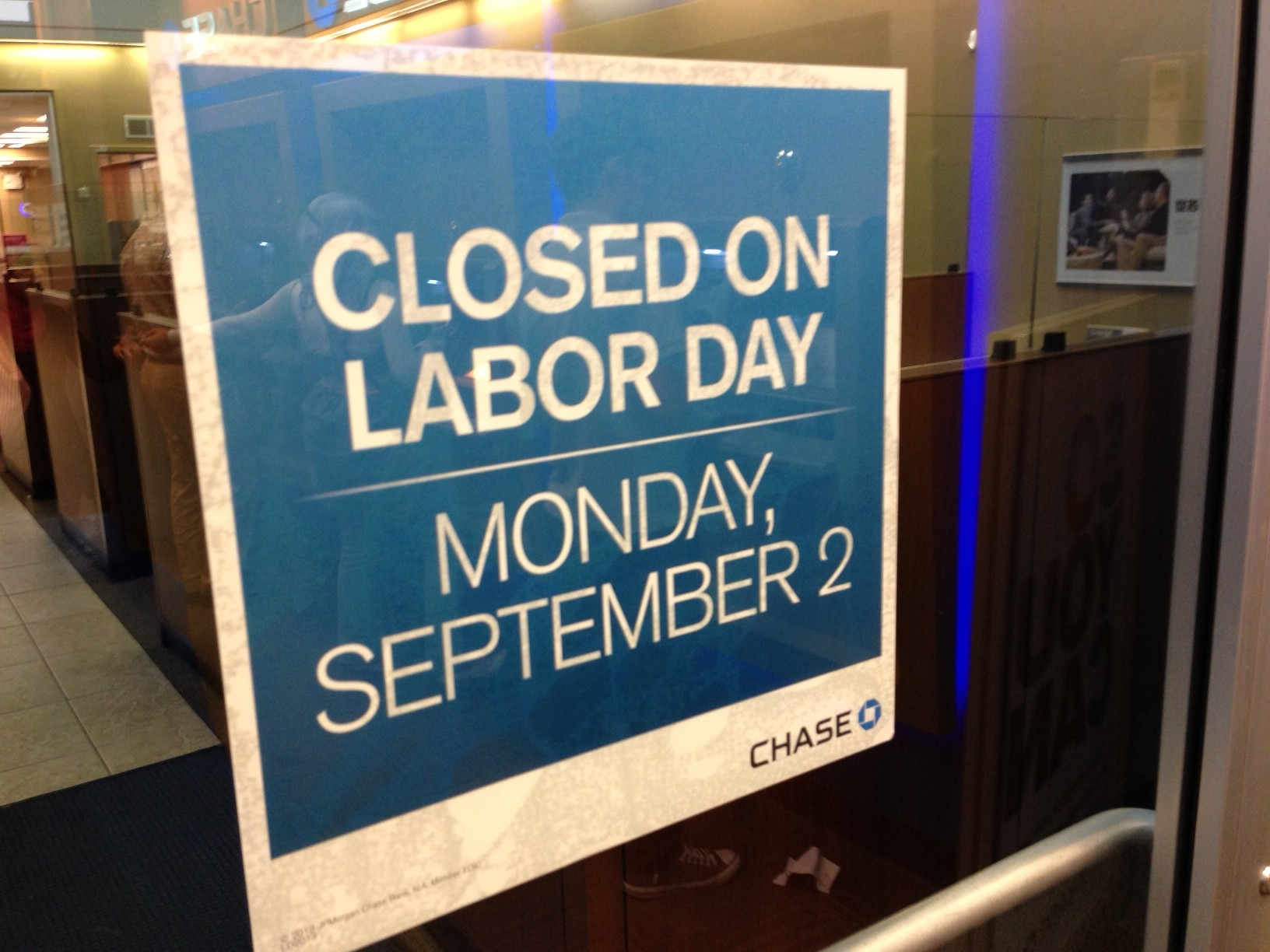 Chase Labor Day Bank Branch