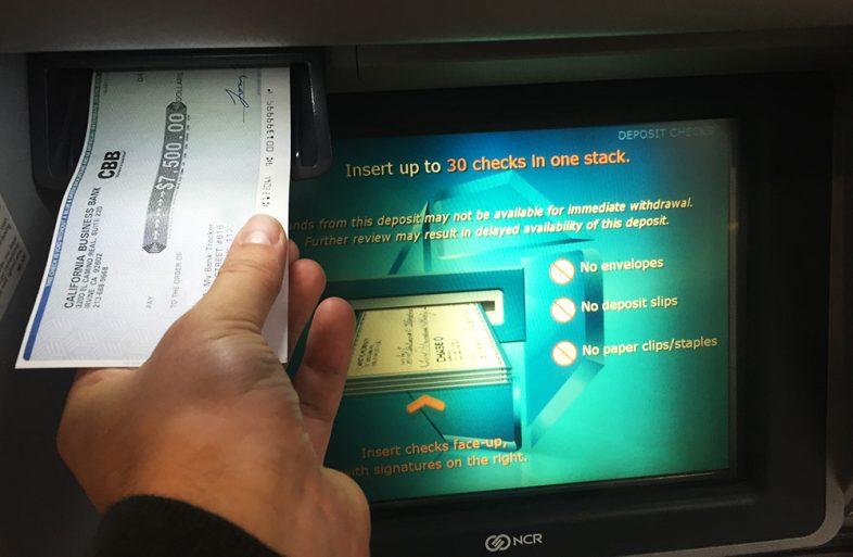 ATM check deposit