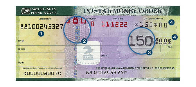Money order from USPS
