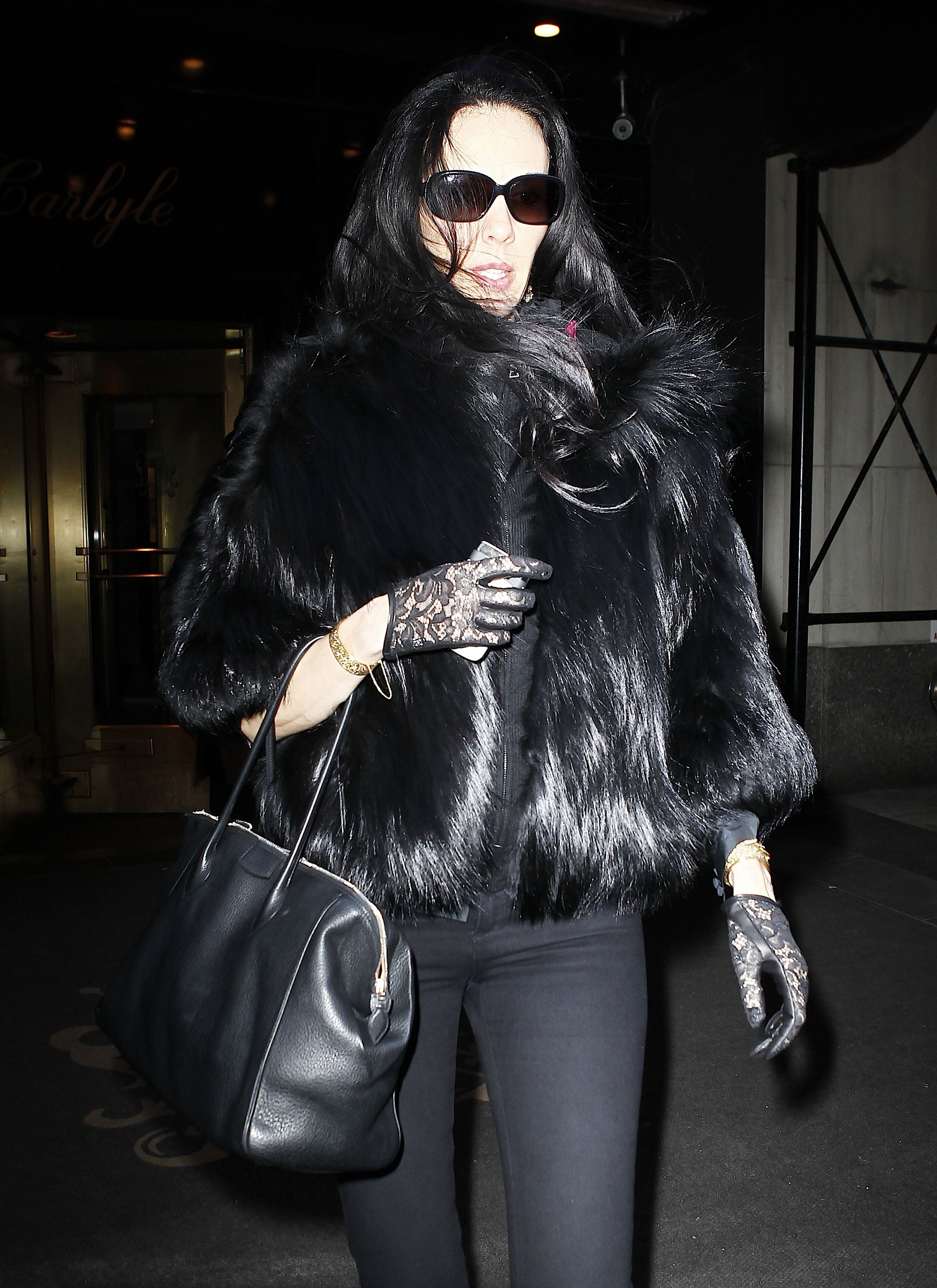 L'Wren Scott Joins Mick For A Night On the Town