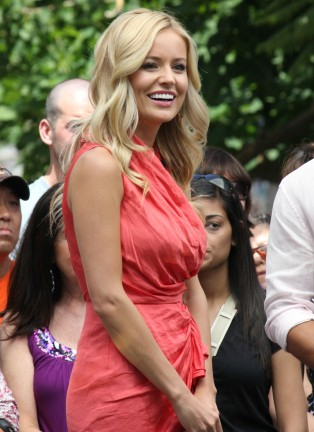 "Emily Maynard Is Interviewed For ""Extra!"""