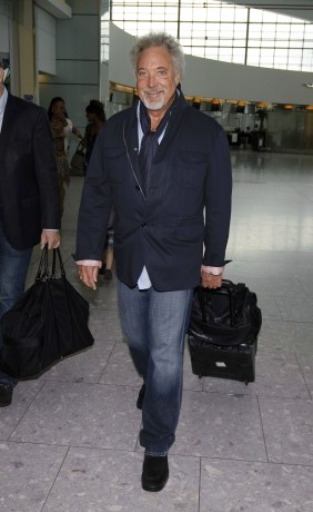 Tom Jones Catching A Flight At Heathrow Airport (USA ONLY)