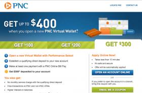 PNC Bank: $400 Bonus for New Checking Account (April 2014)