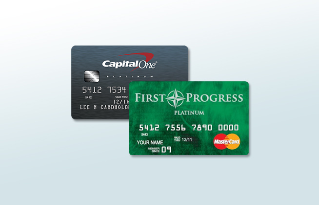 Capital One® Secured MasterCard® vs. First Progress Platinum Elite Credit Card