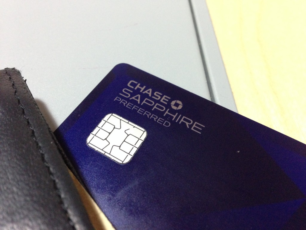Chase sapphire preferred in wallet
