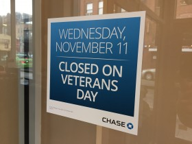 Veterans day Chase bank Hours
