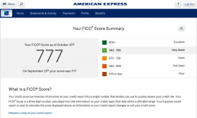American Express Free FICO Credit Score