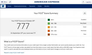 American Express Free FICO Credit Score