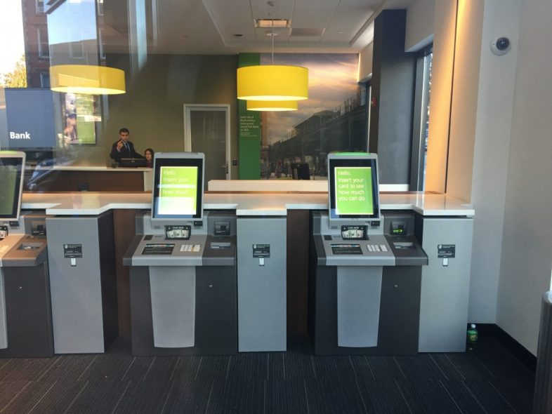 ATM machines at TD Bank