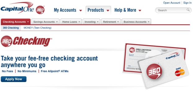 capital one second chance checking account image