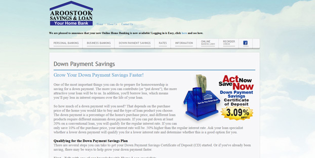 savings account for home down payment picture