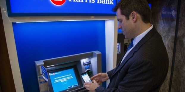 Forgot your ATM or debit card? No problem, just use your smartphone instead. Photo: BMO Harris