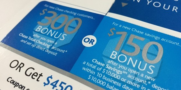 open new bank account incentives