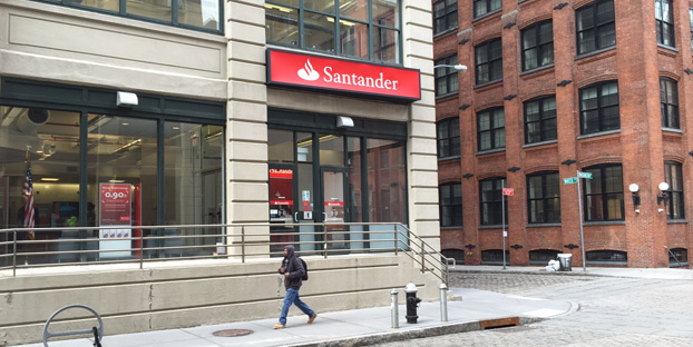 Santander Bank began the road to rejection as I tried to get a cashier's check as a non-customer.