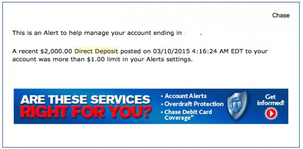 An example of an alert that I received when I transferred money from Ally to Chase.