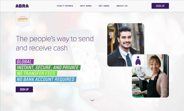 Abra doesn't charge to send money, but it does charge to deposit or withdraw cash.