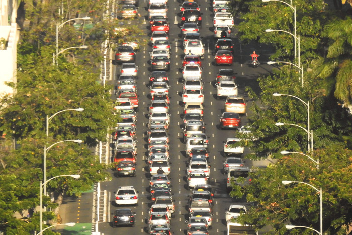 Yes, there's traffic in paradise too. Honolulu, Hawaii was once ranked as the second most congested city for traffic, after L.A. Image via Flickr