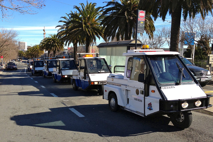 You're not a true San Franciscan unless you know about ParkMobile (an app that lets you feed the parking meters through your smartphone). A parking ticket in SF costs about $76. Image via Flickr