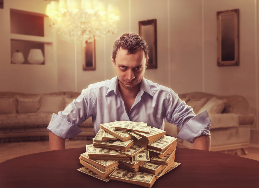 Debt Collector Money on the Table