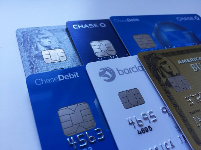 Credit cards with EMV chips
